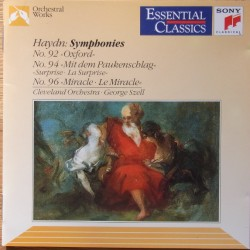 Haydn: Symphonies nos. 92, 94, 96. George Szell, Cleveland Orchestra. 1 CD. Sony