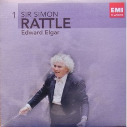 Elgar: Enigma Variations, Granis and Diarmid. Falstaff Simon Rattle, CBSO. 1 CD. EMI
