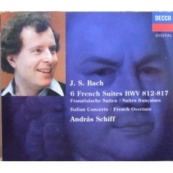Bach: 6 French suites. BWV 812-817. Andreas Schiff. 2 CD. Decca