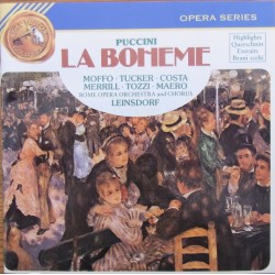 Puccini: La Boheme. (highlights) Moffo, Tucker, Merill. Leinsdorf. 1 CD. RCA