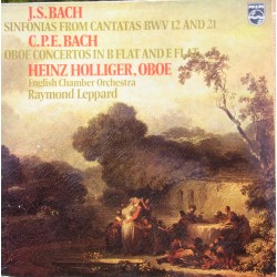 CPE Bach: Oboe Concertos. Heinz Holliger, Raymond Leppard, ECO. 1 LP. Phillips. 6500830