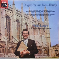 Organ music from King's. Philip Ledger. Bach, Widor, Franck, Liszt. 1 LP. EMI.