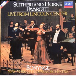Sutherland, Horne, Pavarotti. Live from Lincoln Center. 2 LP. Decca