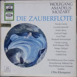 Mozart: The Magic Flute. Otto Klemperer. Schwarzkopf, Gedda, Ludwig. Otto Klemperer. 3 LP. EMI.