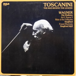 Wagner: Ride of the Valkyries. + Siegfried Idyll. Arturo Toscanini, NBC SO. 1 LP. RCA