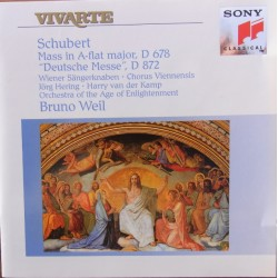 Schubert: Messe i AS-dur D 678 + Deutsche messe. D 872. Bruno Weil. 1 CD. Sony Vivarte.