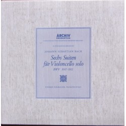 Bach: 6 Suiter for solo cello. Pierre Fournier. 2 CD. Archiv