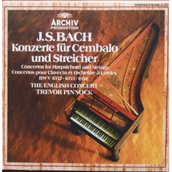 Bach: Koncerter for cembalo og strygere. Trevor Pinnock, The English Concert. 2 CD. Archiv