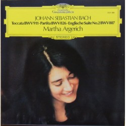 Bach: Toccata BWV 911, Partita BWV 826, English Suite no. 2. BWV 807. Martha Argerich. 1 CD. DG