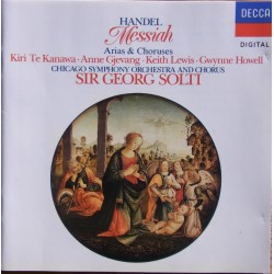 Handel: Messiah. Arier & kor. Georg Solti. Kiri te Kanawa, Gjevang, Chicago SO. 1 CD. Decca