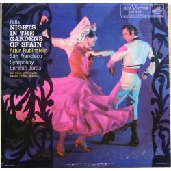 De Falla: Night in the Gardens of Spain. Artur Rubinstein, San Francisco SO, Enrique Jorda. 1 LP. RCA. Living Stereo