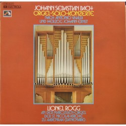 Bach: Organ-solo-Concertos, after Vivaldi. Lion Rogg. 1 LP. EMI