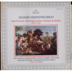 Bach: Hunting Cantata BWV 208. Auger, Mathis, Adam. Schreier. 1 LP. Archiv