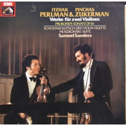 Prokofiev & Shostakovich: Works for two violins. Perlman, Zukerman. 1 LP. EMI