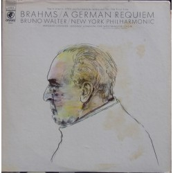 Brahms: Ein Deutsches Requiem. Irmgard Seefried, George London, Bruno Walter. (1954). 1 LP. CBS