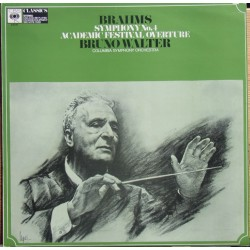 Brahms: Symfoni nr. 4. + Academic Festival Overture. Bruno Walter, Columbia SO. 1 LP. CBS.