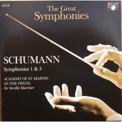 Schumann: Symfoni nr. 1 & 3. Neville Marriner, Academy of st. Martin in the Fields. 1 CD. Brilliant Classics
