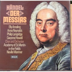 Handel: Messiah. Marriner, Ameling, Reynold, Langridge. 3 LP. Decca