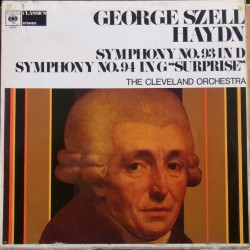 Haydn: Symphonies nos. 93 & 94. George Szell, Cleveland Orchestra. 1 LP CBS. 61052