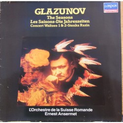 Glazunov: The Seasons in highlight. + Stenka Razin. Ernst Arnsemet, L'Orchester de la Suisse Romande. 1 LP. Decca