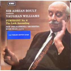 Vaughan Williams: Symfoni nr. 6. NPO. Adrian Boult. 1 LP. EMI. ASD 2329