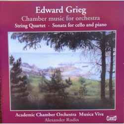 Grieg: Chamber music for orchestra. Alexander Rudin, Academy Chamber Orchestra. 1 CD. Classico