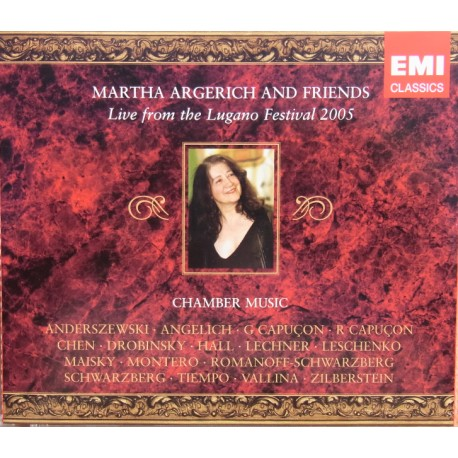 Martha Argerich & Friends: Live from the Lugano Festival 2005. 3 CD. EMI