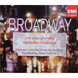 Broadway Musicals. Carousel, Funny Girl, Annie Get your gun, Kiss me Kate, Follies, Can-Can. 5 CD. EMI.