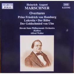 Marschner: Overtures. Slovak SPO. Alfred Walther. 1 CD. Marco Polo