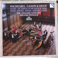 Pachelbel: Canon & Gigue. Trevor Pinnock, The English Consort. 1 LP. Archiv
