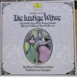 Franz Lehar: The Merry Widow. Herbert von Karajan, Harwood, Stratas, Hollweg, Kollo. 2 LP. DG