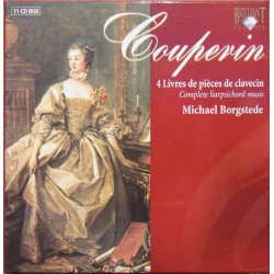 Couperin: 4 Livres de pieces de clavecin. Michael Borgstede. 11 CD. Brillliant Classics