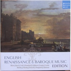 English Renaissance and Baroque music by Blow, Byrd, Croft, Dowland, Gibbons, Lawes, Locke, Morley, Parsley, Purcell. 10 CD. DHM