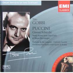 Puccini: Gianni Schicchi. Tito Gobbi, V. de los Angeles. Santini. 1 CD. EMI Great Artists of the Century.