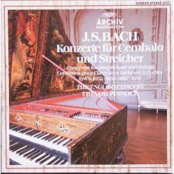 Bach: Koncerter for cembalo og strygere. Trevor Pinnock, The English Concert. 1 CD. Archiv