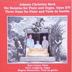 J.C. Bach: Six sonatas for flute and organ & Three duos for flute and viola da Gamba. 1 CD. Classico