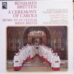 Britten: A Ceremony of Carols. Kings College Choir, David Wilcocks. 1 LP. EMI