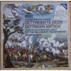 Handel: Dettingen te Deum & Dettingen Anthem. The English Concert. Simon Preston. 1 LP. Archiv