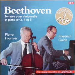 Beethoven: Cellosonate nr. 3, 4, 5. Pierre Fournier & Friedrich Gulda. 1 CD. Sony