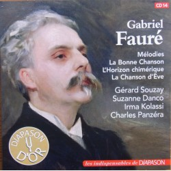 Faure: Melodies. Gerard Souzay, Suzanne Danco, Charles Panzera. 1 CD. Sony