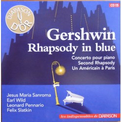Gershwin: Rhapsody in Blue, Piano Concerto. An American in Paris, Earl Wild, Felix Slatkin. 1 CD. Sony