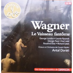 Wagner: Der fliegende hollander. Antal Dorati, London, Rysanek, Tozzi, Elias. 2 CD. Sony