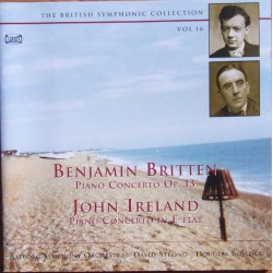 Britten & Ireland: Klaverkoncerter. David Strong, Douglas Bostock, Aalborg SO. 1 CD. Classico