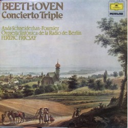 Beethoven: Triple Concerto. Geza Anda, Wolfgang Schneiderhan, Pierre Fournier, Ferenc Fricsay RSO Berlin. 1 LP. DG