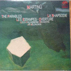 Martinu: The Parables, Les Estampes, La Rhapsodie. Jiri Belohlavek. 1 LP. Supraphon