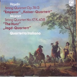 Haydn: String Quartet Op. 76/3 & Mozart: String Quartet no. 17. Quartetto Italiano. 1 LP. Philips 9500 662