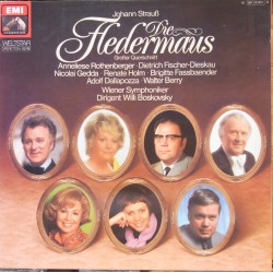 J. Strauss: Die Fledermaus. (highligts) Gedda, Fischer-Dieskau, Rothenberger. Willi Boskovsky. 1 LP. EMI