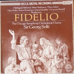Beethoven: Fidelio. Sir Georg Solti, Behrens, Hofmann, Adam. Chicago SO & Chorus. 3 LP. Decca. D178 D3