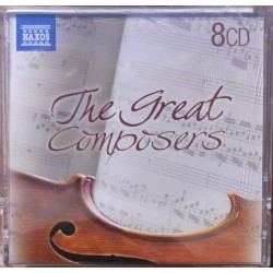 The Great Composers. Bach, Beethoven, Chopin, Grieg, Handel, Mozart, Puccini, Tchaikovsky, 8 CD. Naxos.