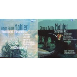 Mahler: Symphonies nos. 2 & 3. Simon Rattle, City of Birmingham Symphony Orchestra. 3 CD. Warner